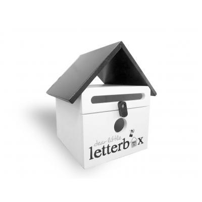 Black Dear Little Letterbox