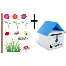 BLUE Dear Little Letterbox & Wall Decal