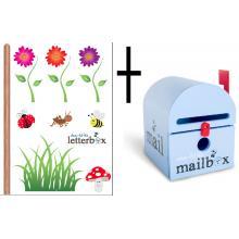 Combo Deal – BLUE Dear Little Mailbox & Wall Decal
