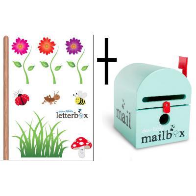 Combo Deal – Mint Dear Little Mailbox & Wall Decal