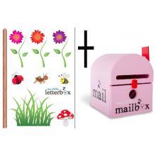 Combo Deal – PINK Dear Little Mailbox & Wall Decal