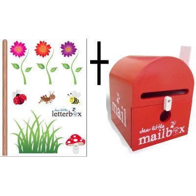 RED Dear Little Mailbox & Wall Decal