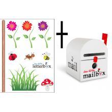 WHITE Dear Little Mailbox & Wall Decal